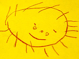 sun spider drawing